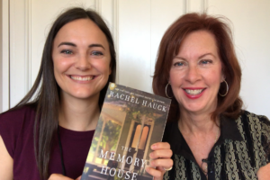 Rachel Hauck and Jenny Snow with Rache's novel, The Memory House