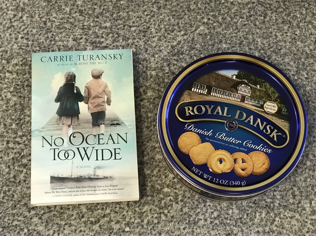 No Ocean Too Wide and a Tin of Danish Butter Cookies for the Giveaway