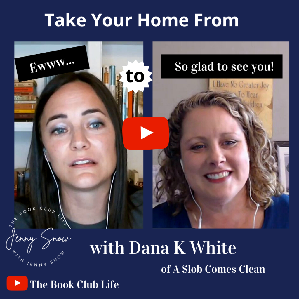 Dana K White and Jenny Snow on the Book Club Life YouTube Channel